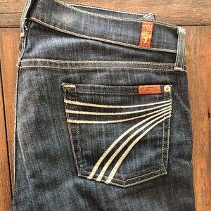 "Like new 7  For All Mankind ""Dojo"" trouser jeans"